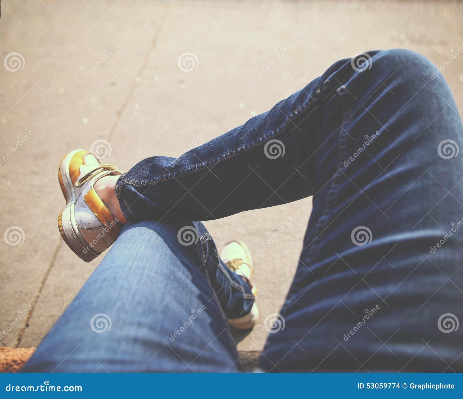 фото парня ноги