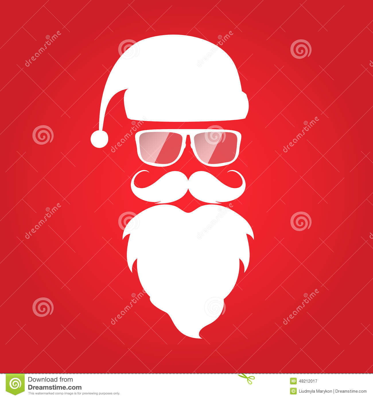 hipster style christmas card design santa claus stock