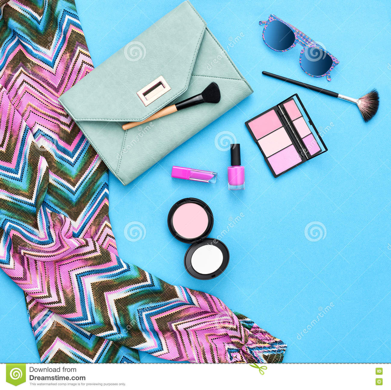 Hipster Style Fashion Girl Clothes Accessories Set Stock