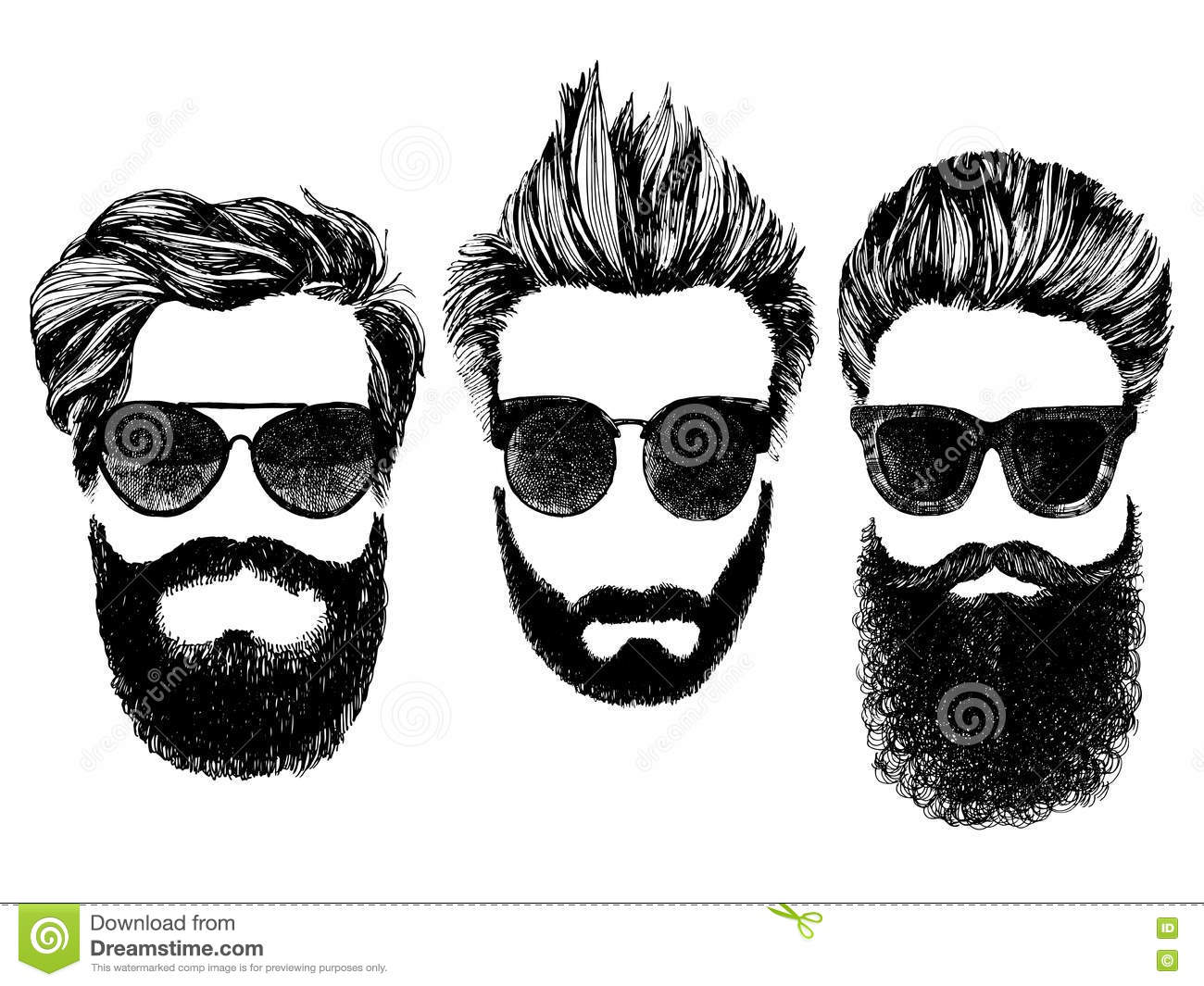 Hipster Glasses Fashion Style Illustration Vector ...