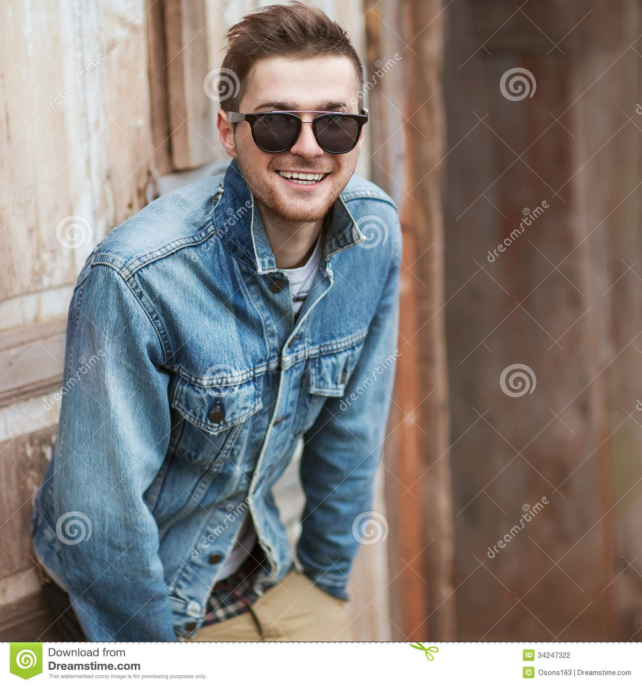 Hipster style guy stock photo. Image of model, hair ...