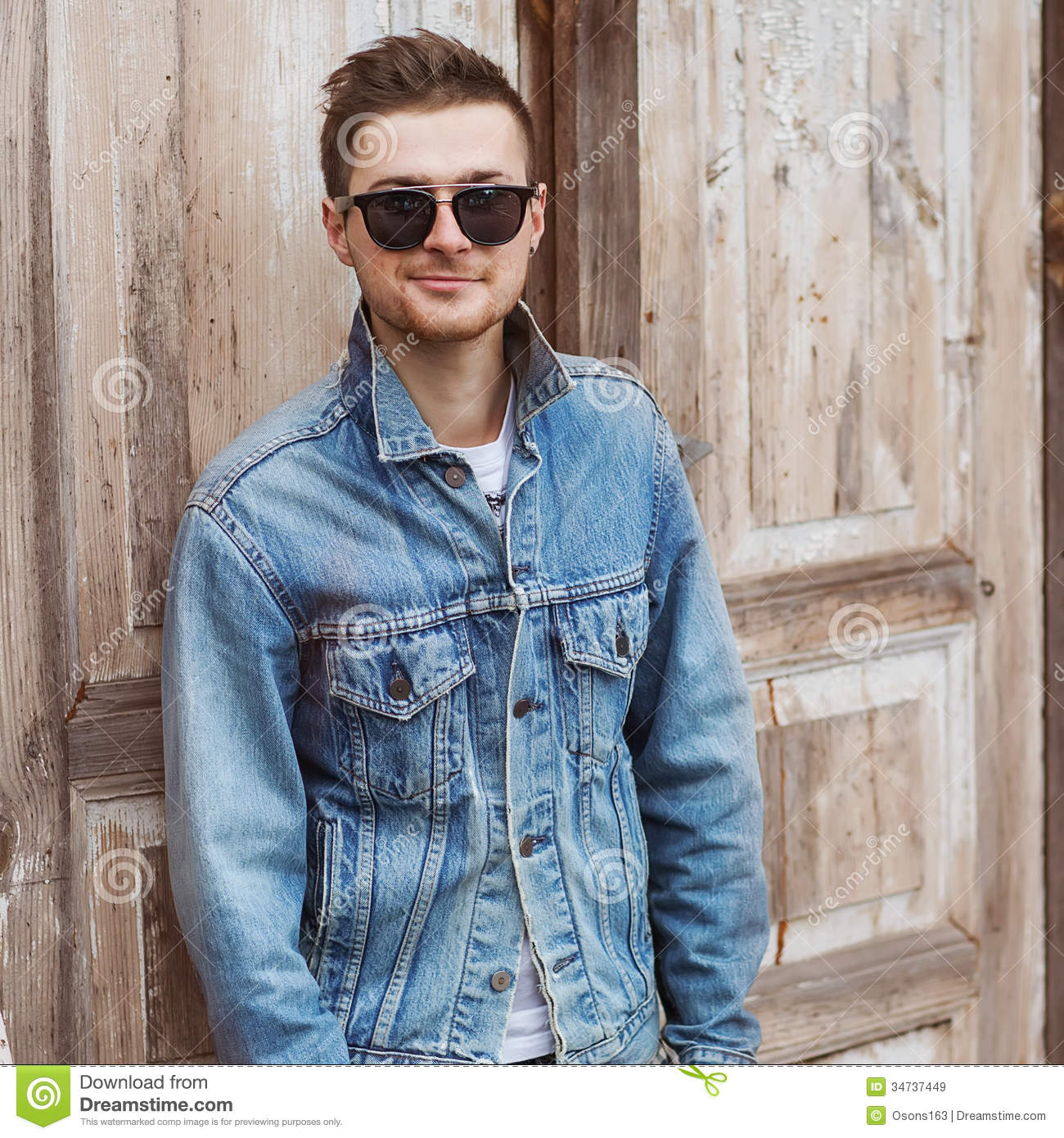 Hipster style guy stock image. Image of male, fashion ...