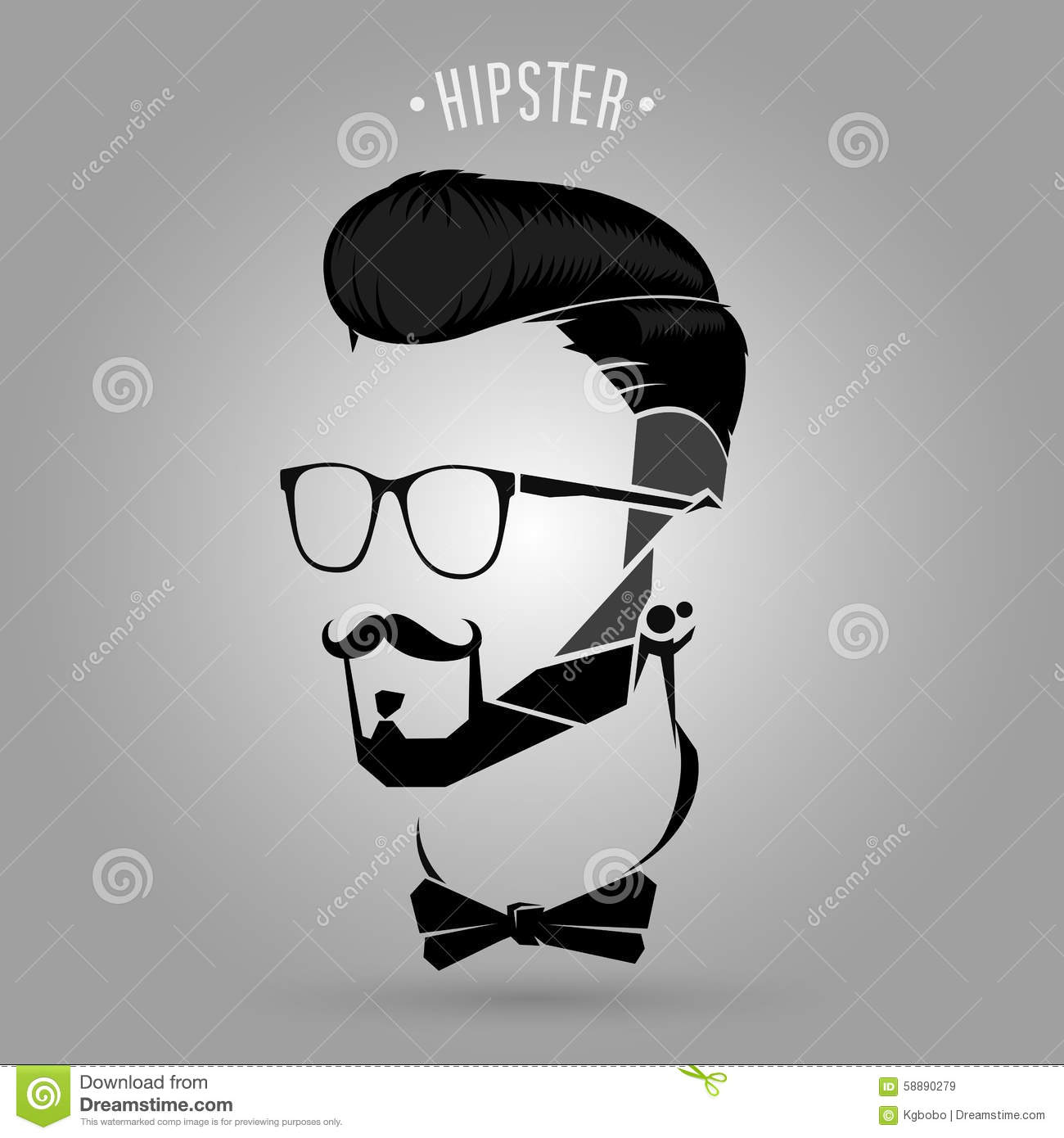 Hipster Trend Symbol Stock Vector Image 58890279