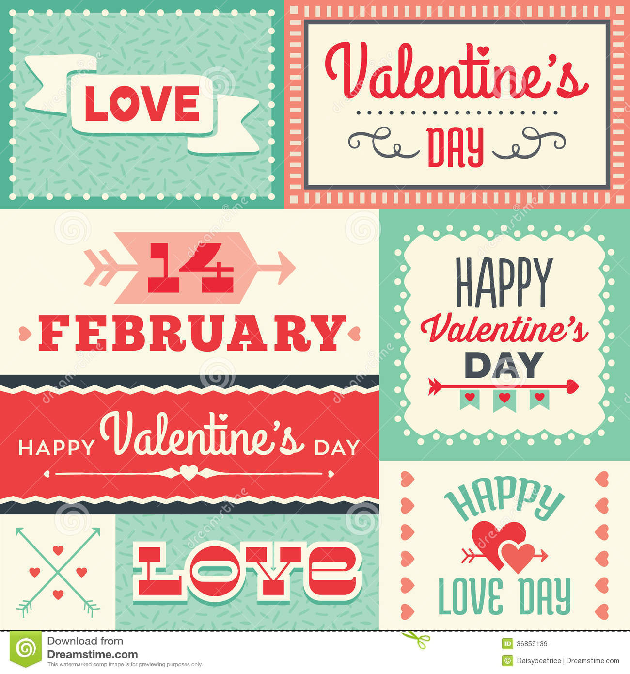 Hipster Valentines Day Labels And Cards Royalty Free Images – Valentine Day Label