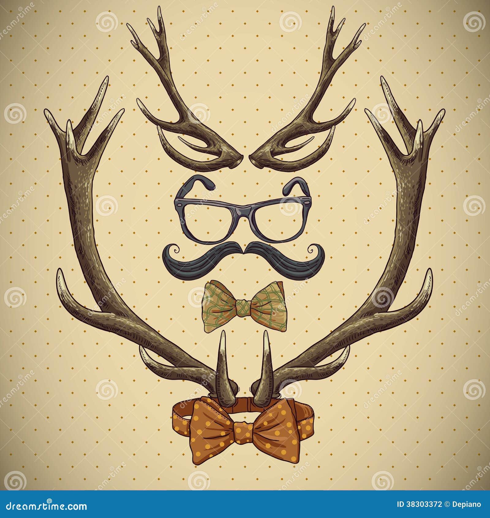 Tribal Antlers With deer antlers.