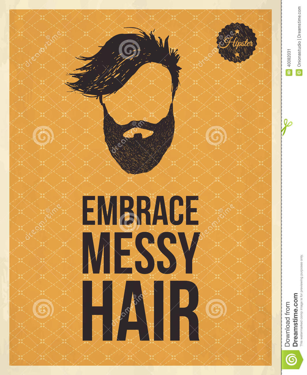 Hipster Vintage Trendy Look Quotes, Embrace Messy Hair