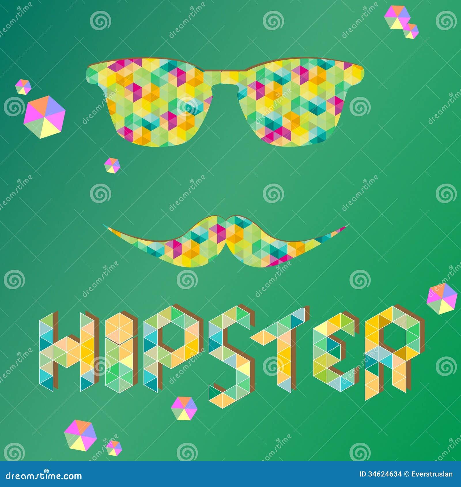 Hipsterachtergrond met zonnebril