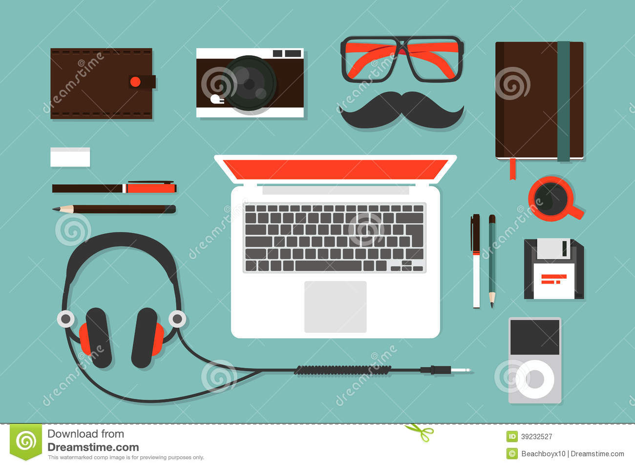 hipsters accessories stock vector illustration of education 39232527