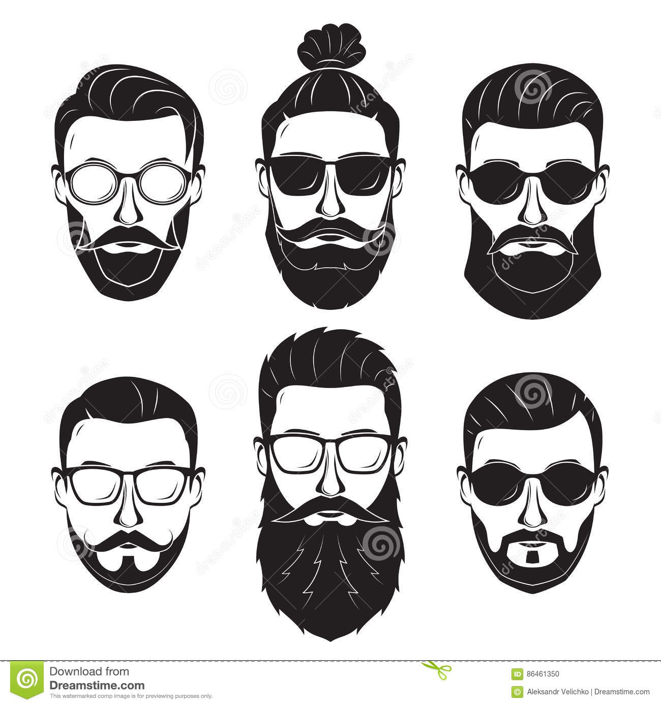 Outstanding Hipsters Bearded Men With Different Hairstyles Mustaches Beards Schematic Wiring Diagrams Amerangerunnerswayorg