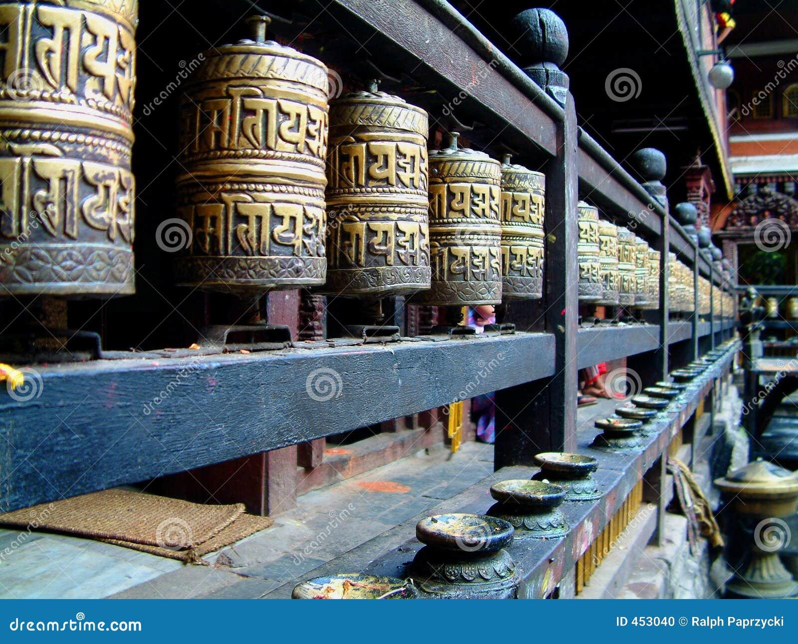 Hiranya lalitpur mahavihar ρόδες verna προσευχής του Νεπάλ patan