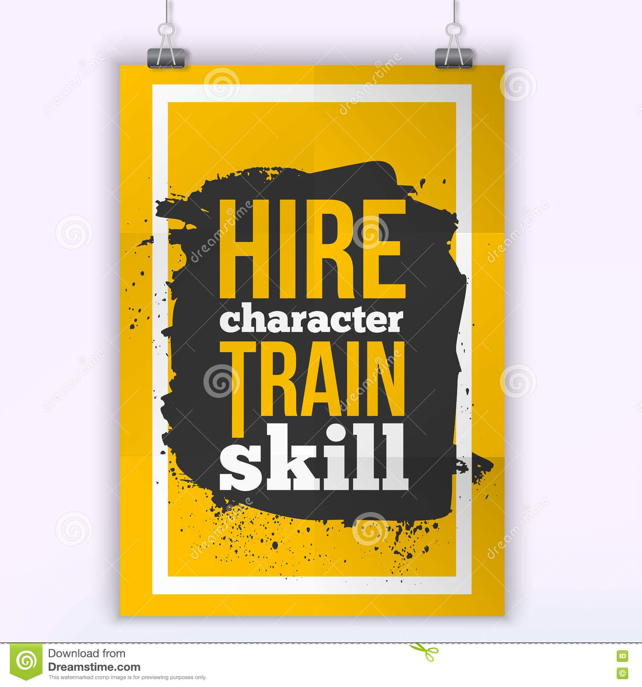 hire character train skill quote for wall art prints mock up
