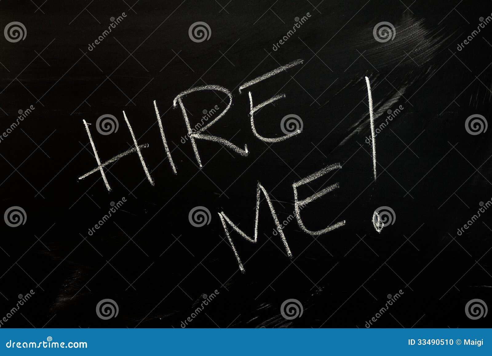 Download Hire Me stock photo. Image of challenge, alert, unemployment - 33490510