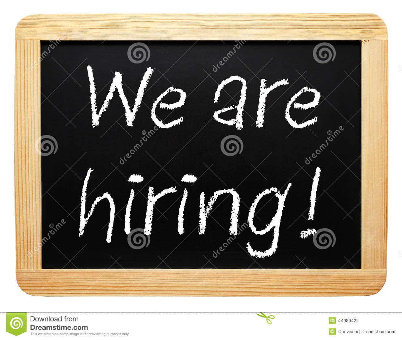 We are hiring chalkboard sign