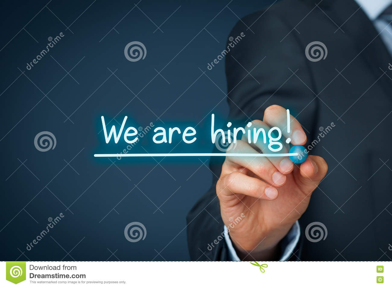 we are hiring stock image  image of businessman