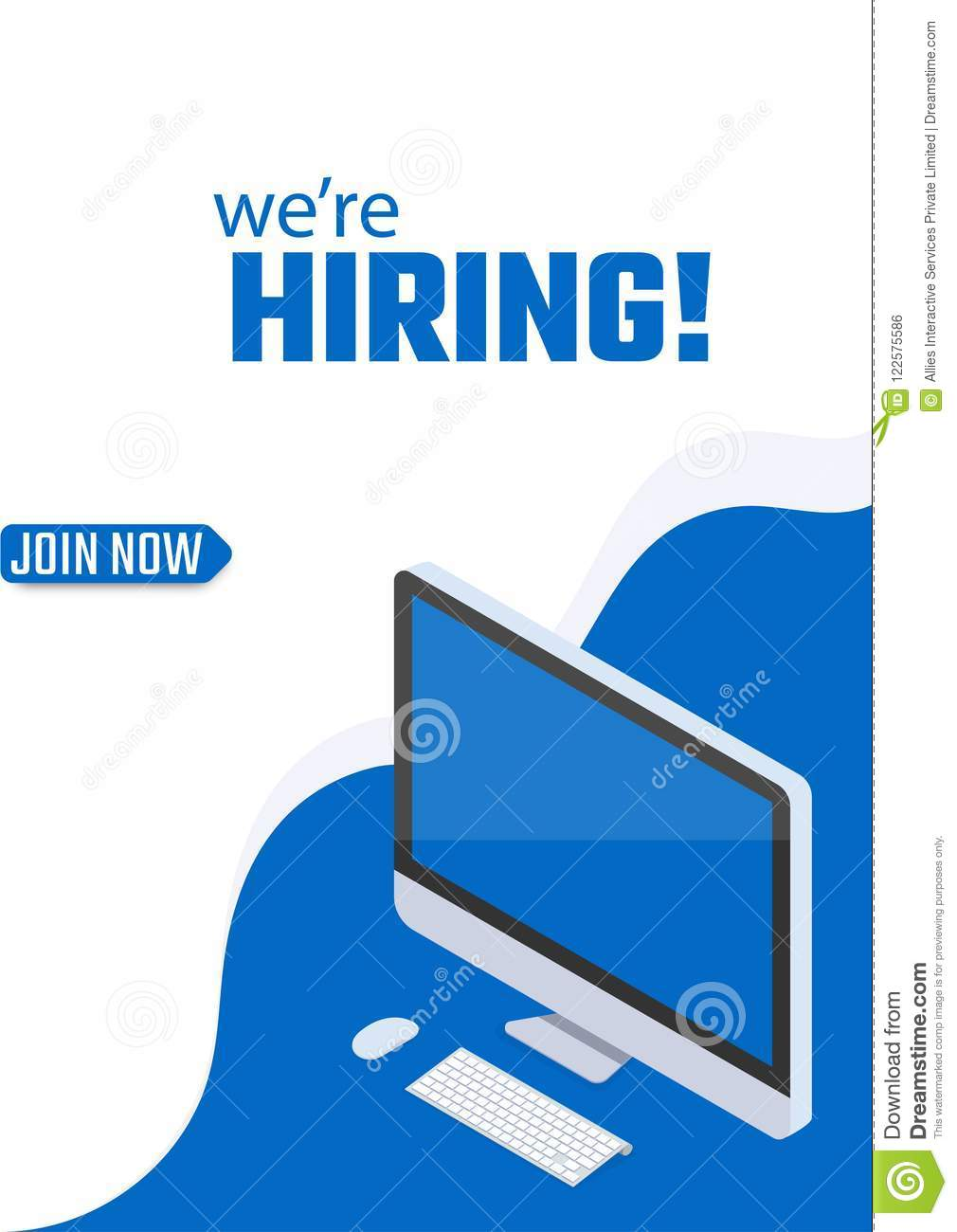 We Are Hiring, Join Now, Poster Or Template Design For Job ...