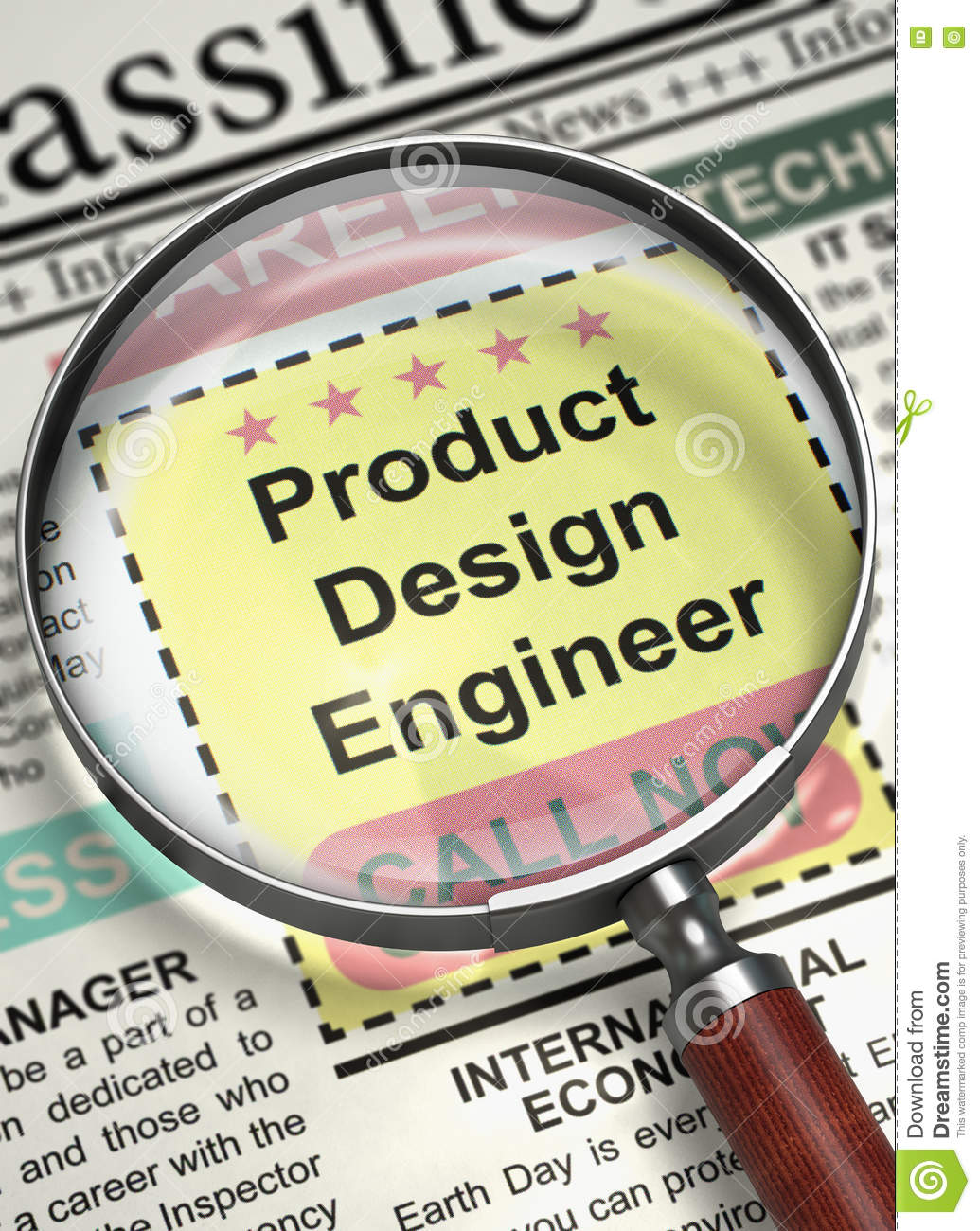 We Are Hiring Product Design Engineer 3d Stock Photo Image Of Business Profession 78781812