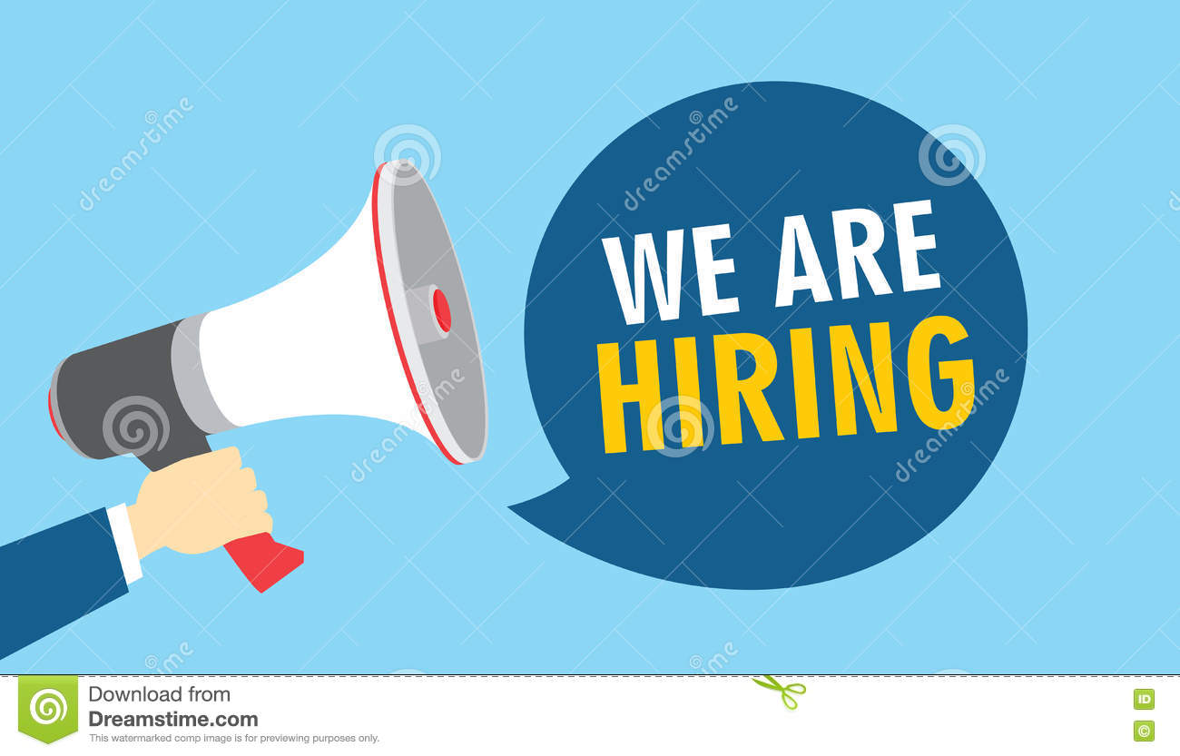 we are hiring  recruitment employee hired  cartoon vector