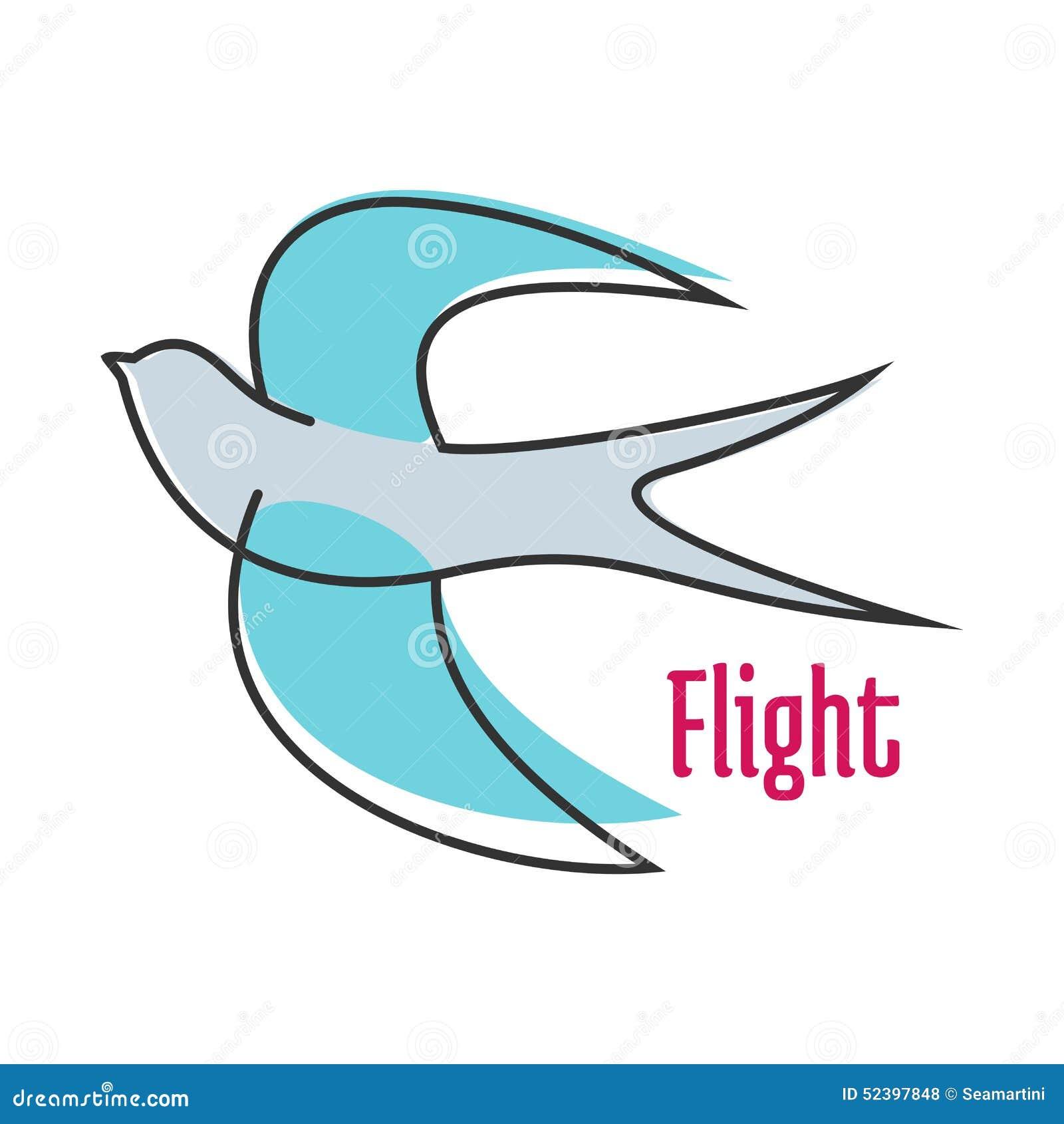Hirondelle bleue volante dans le style d ensemble