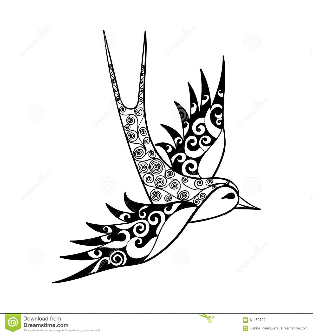 Swallow Coloring Page
