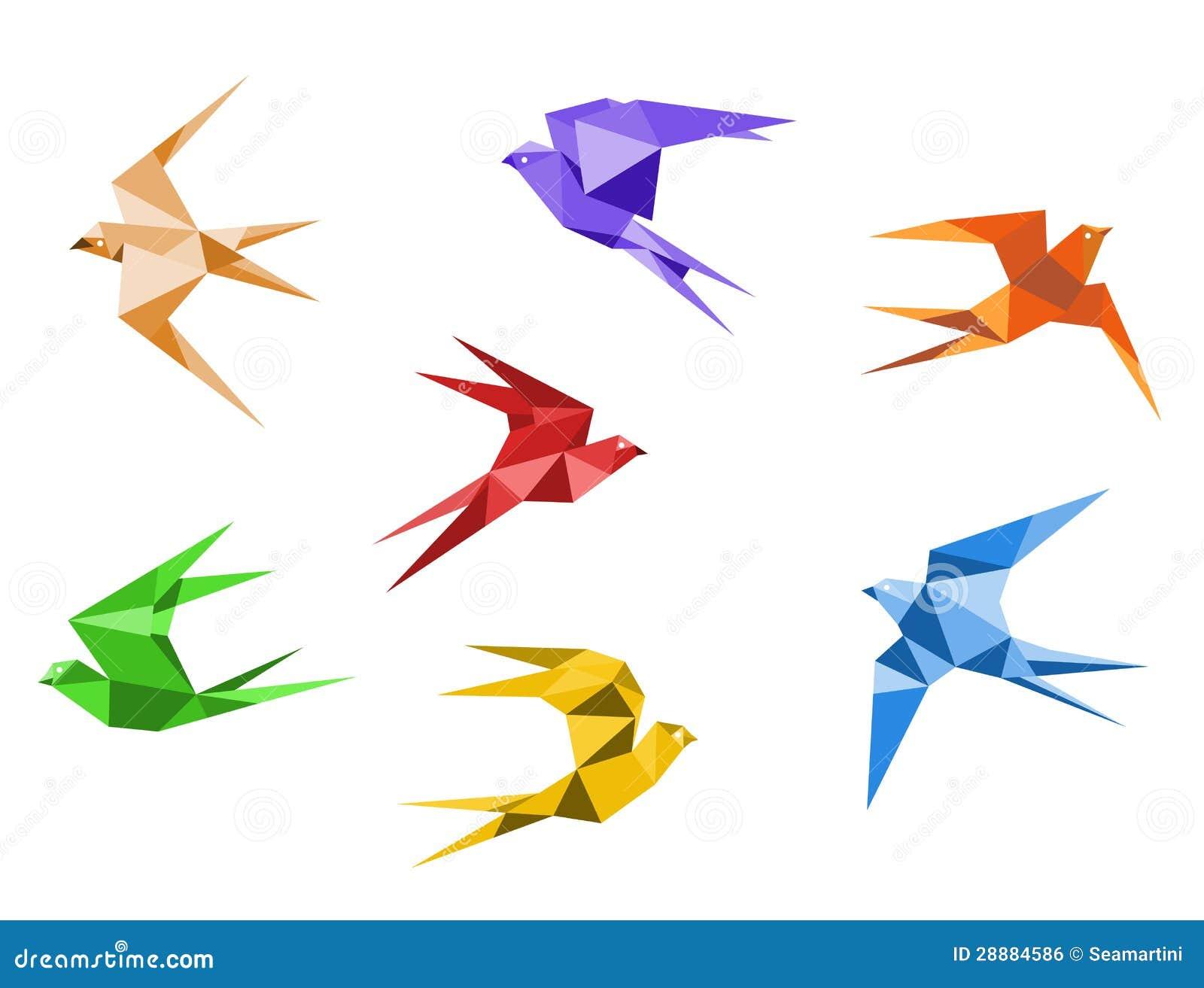 origami facile hirondelle