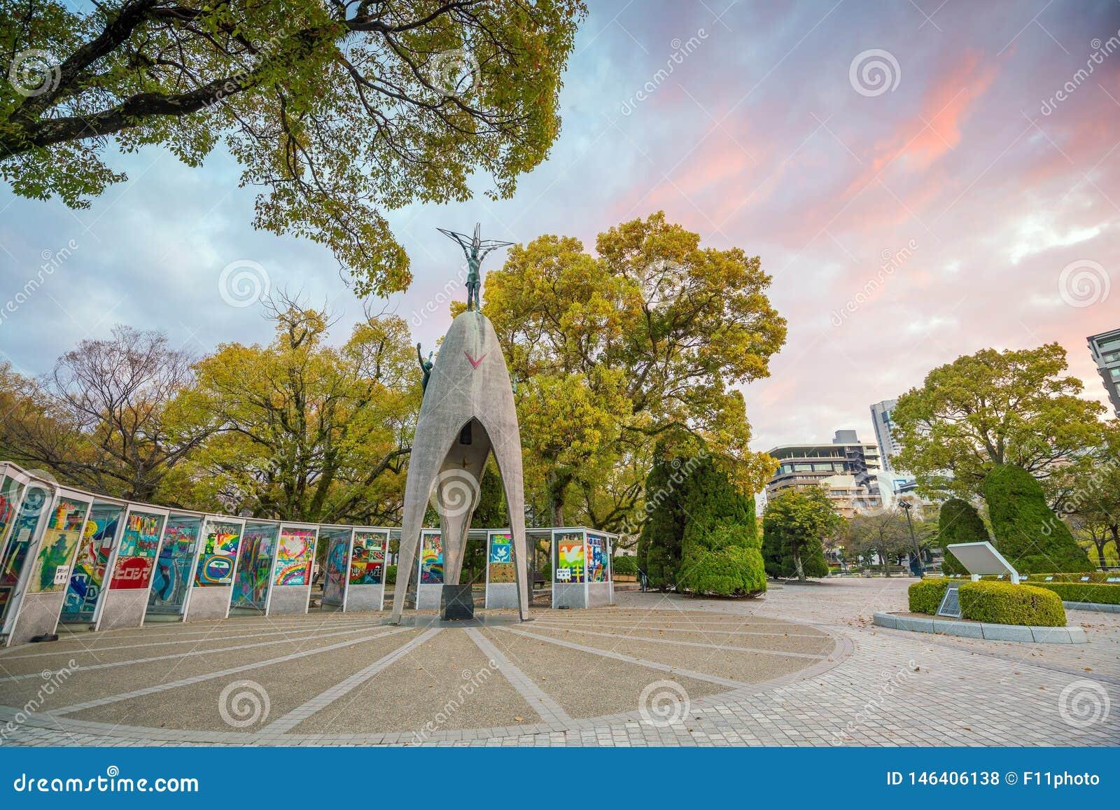The Children`s Peace Monument in Hiroshima Peace Memorial Park, Japan