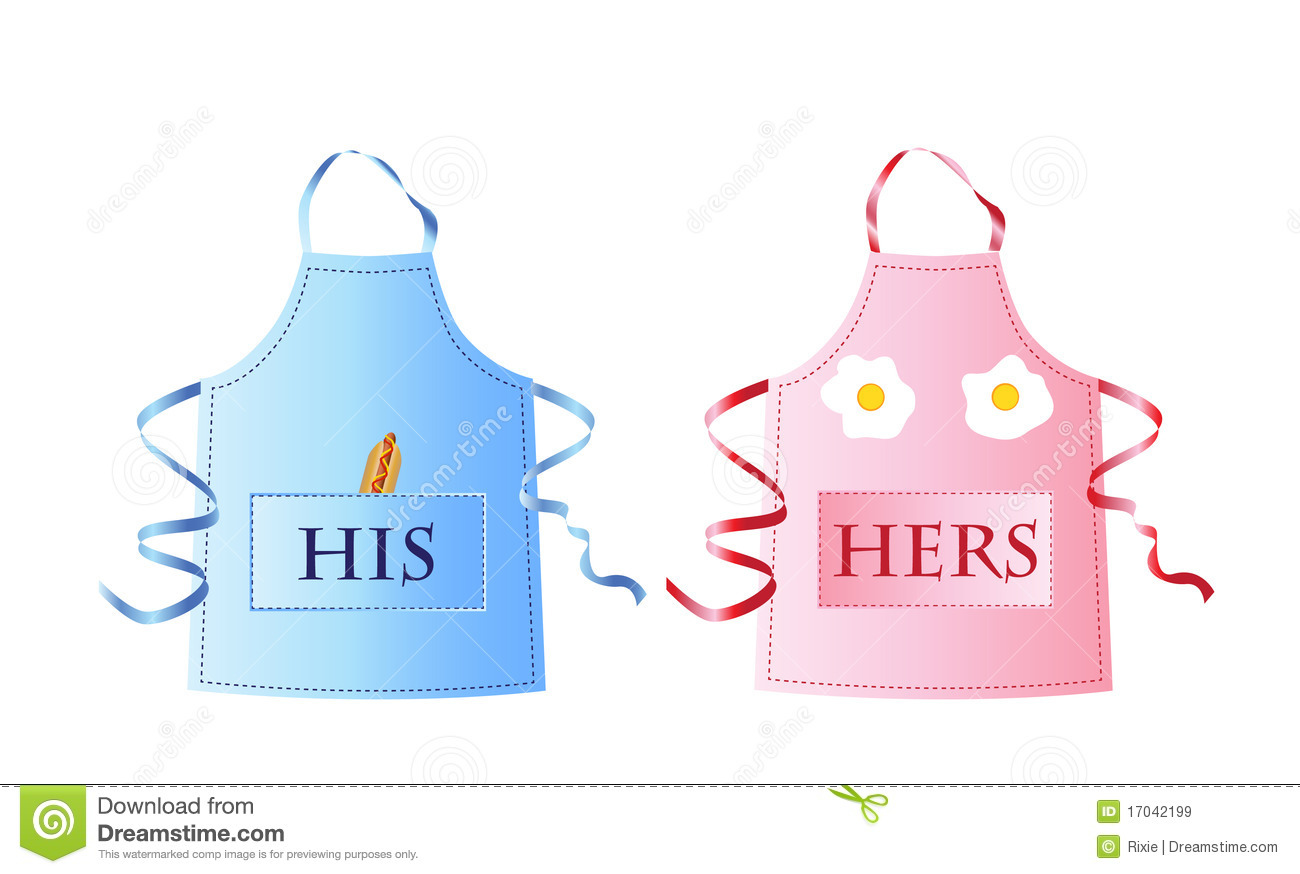 Http Www Dreamstime Com Royalty Free Stock Images His Hers Aprons Image17042199