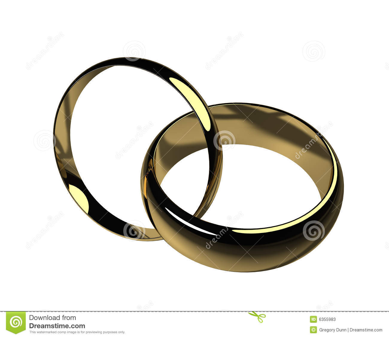 His And Hers Wedding Bands Isolated Stock Photos Image 6355983