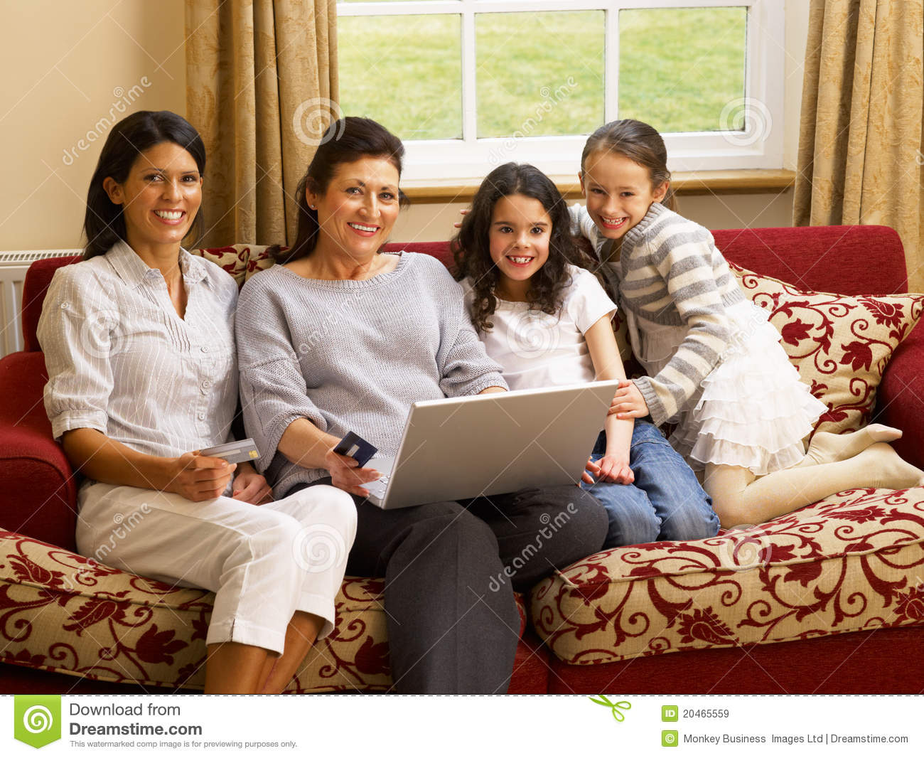 Home Shopping Online Part - 23: Royalty-Free Stock Photo. Download Hispanic Family At Home Shopping Online  ...