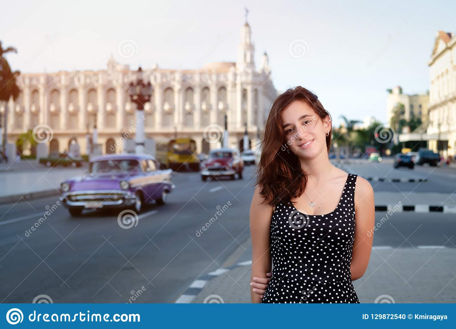 Hispanic girl in Old Havana