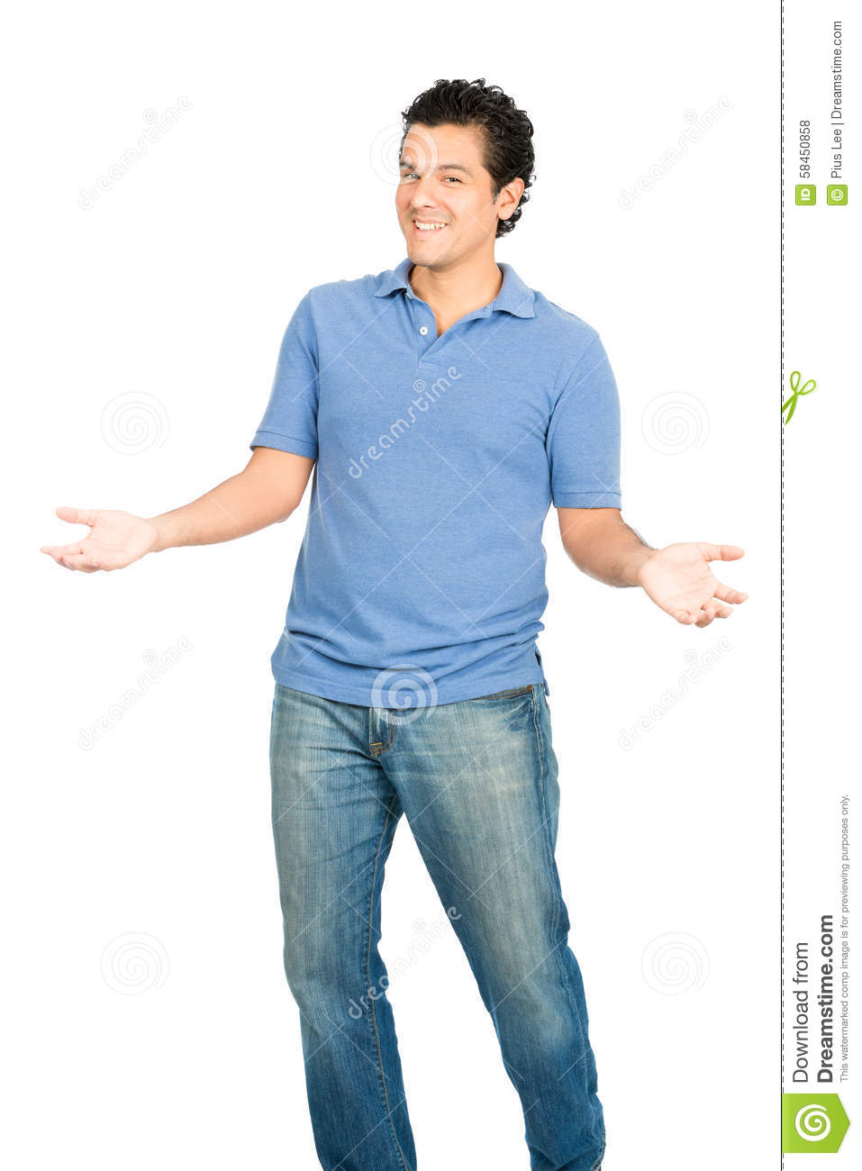 Hispanic Man Open Outstretched Arms Inviting Hug Stock ...