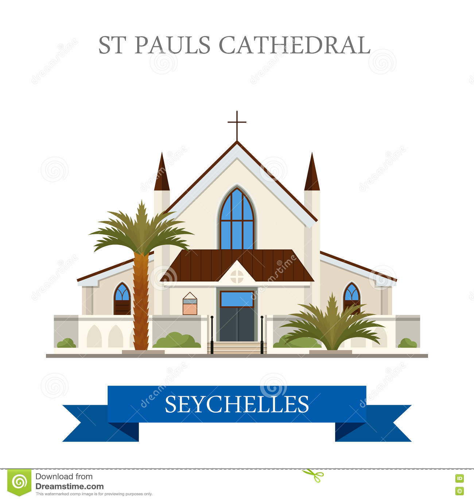 Histo de Victoria Seychelles Flat da catedral de St Paul