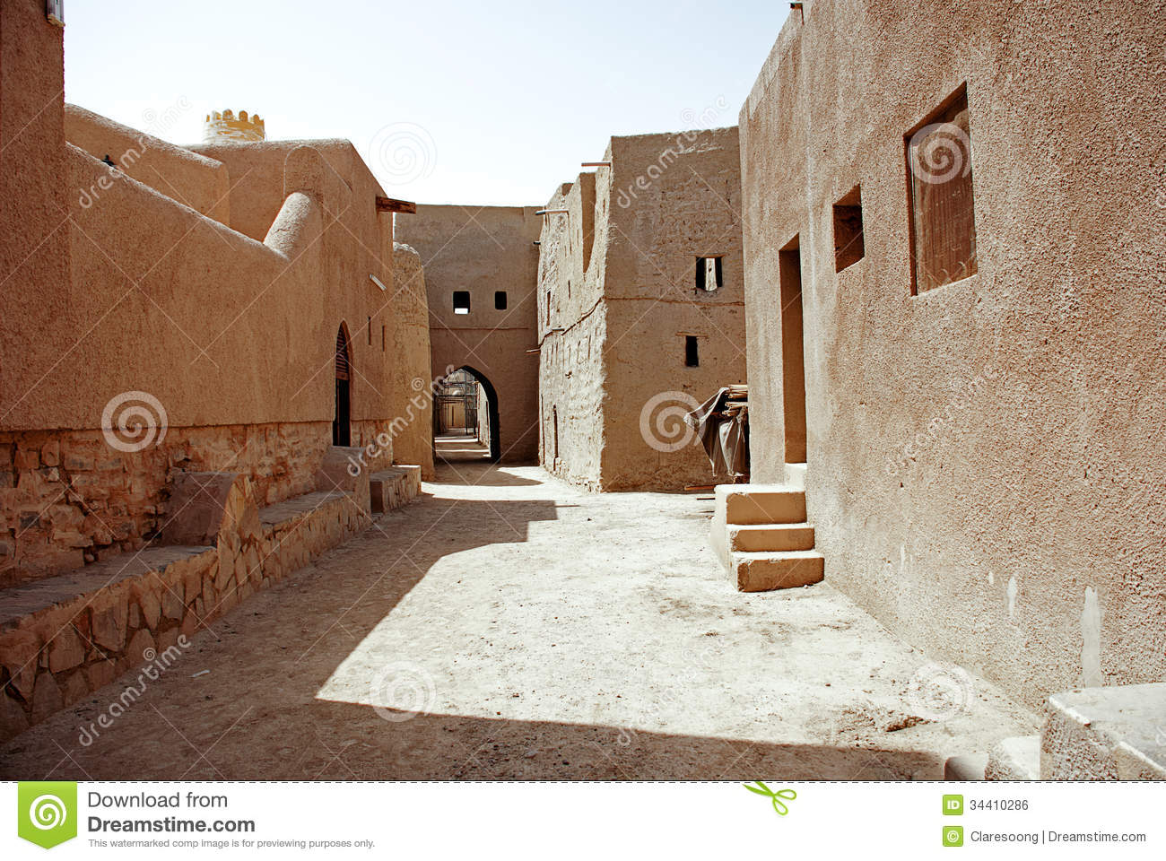 Historic adobe houses in oman stock photo image 34410286 Building an adobe house