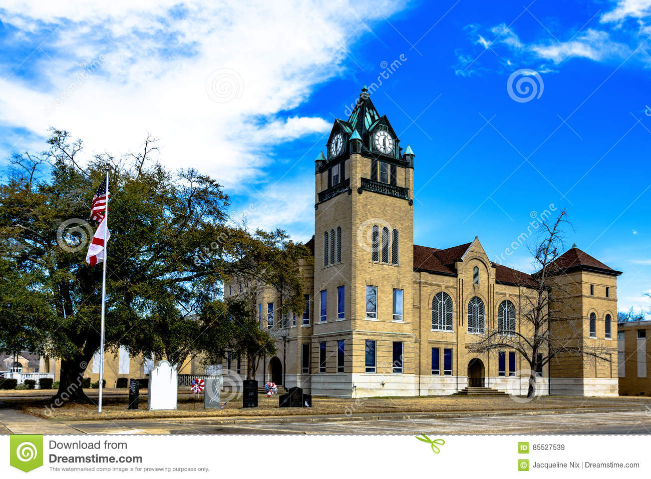 Historic Autauga County Courthouse Editorial Stock Image