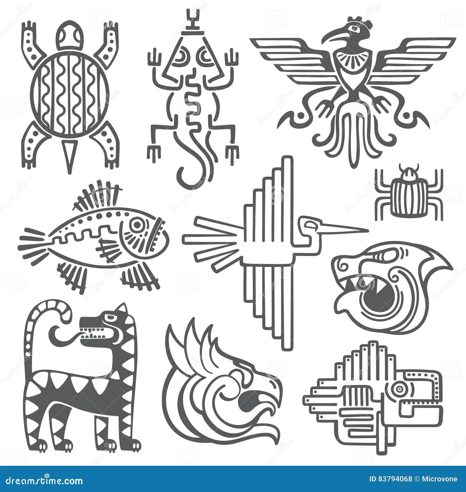 Historic aztec inca vector symbols mayan temple pattern native historic aztec inca vector symbols mayan temple pattern native american culture signs buycottarizona Image collections