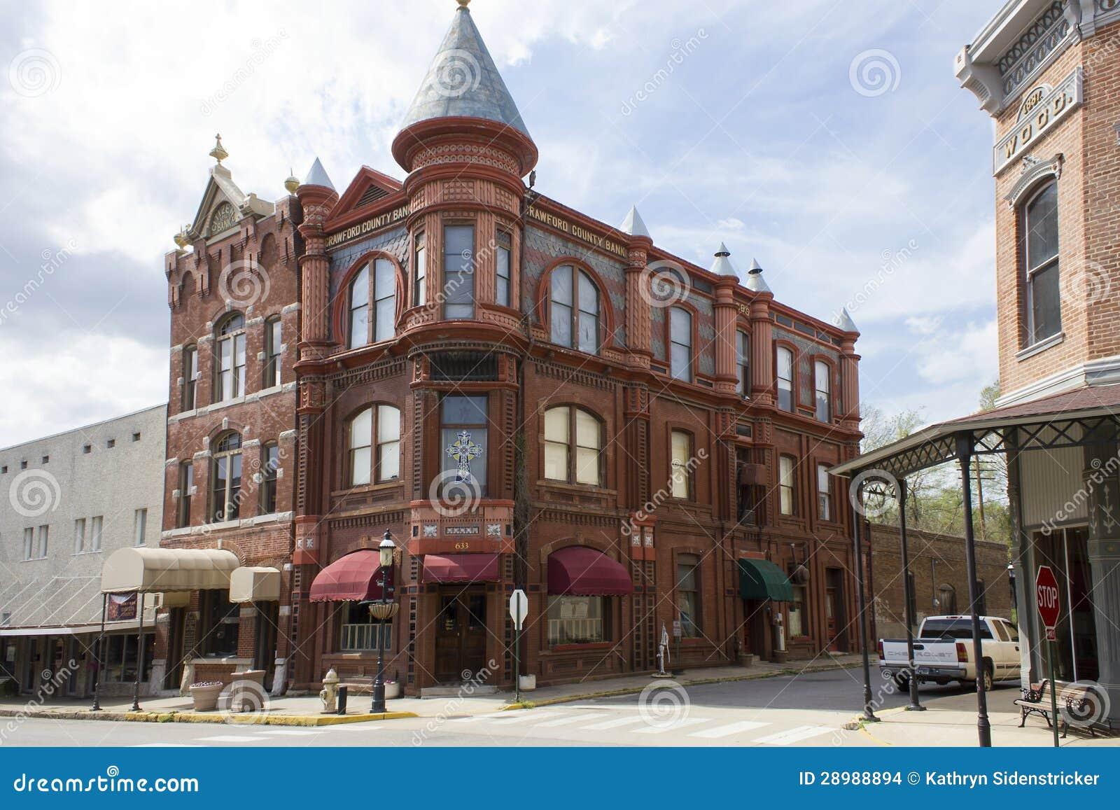 Historic Bank Building In Van Buren Arkansas Editorial