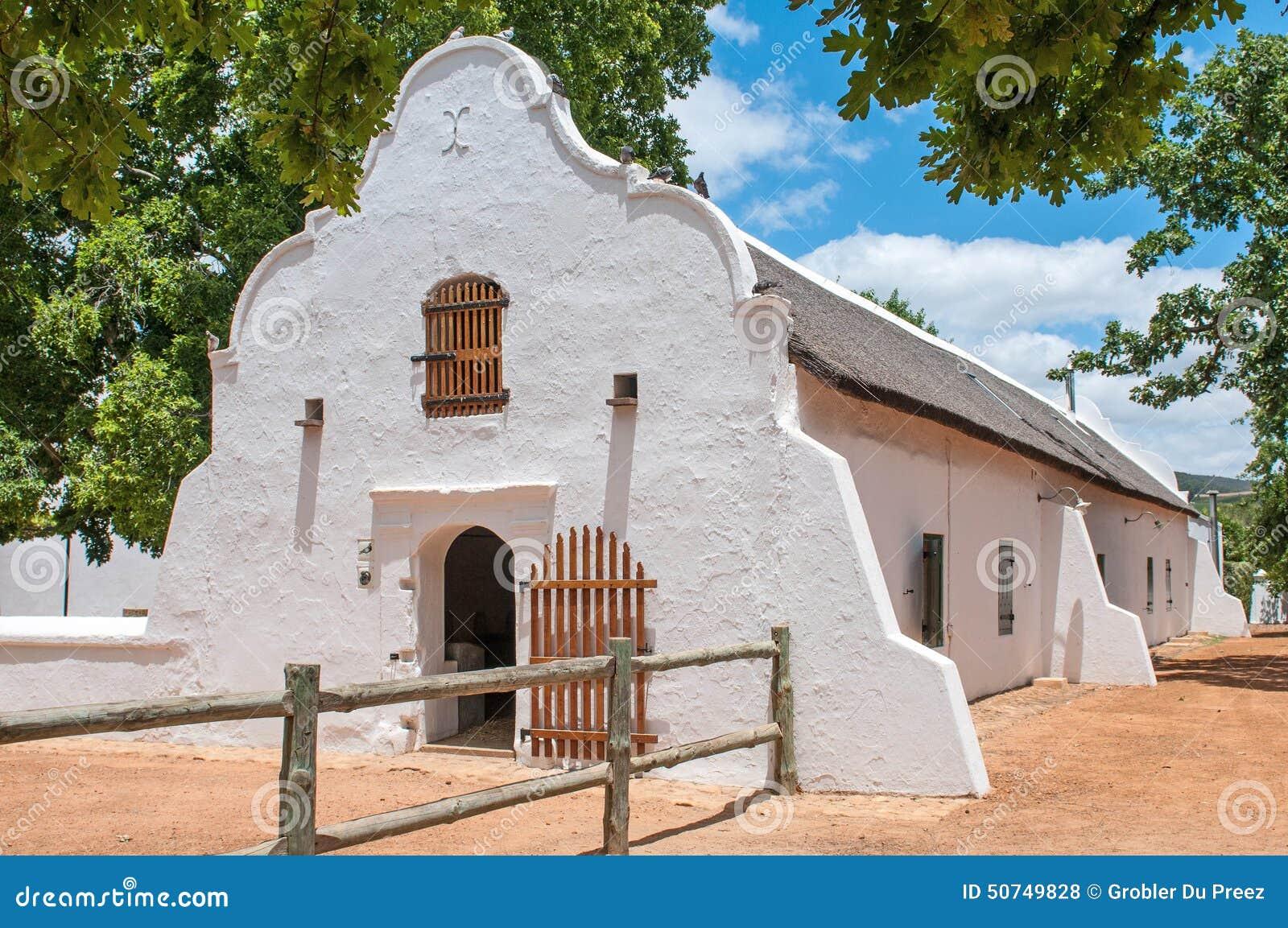 Historic barn in cape dutch architectural style editorial for Dutch style barn