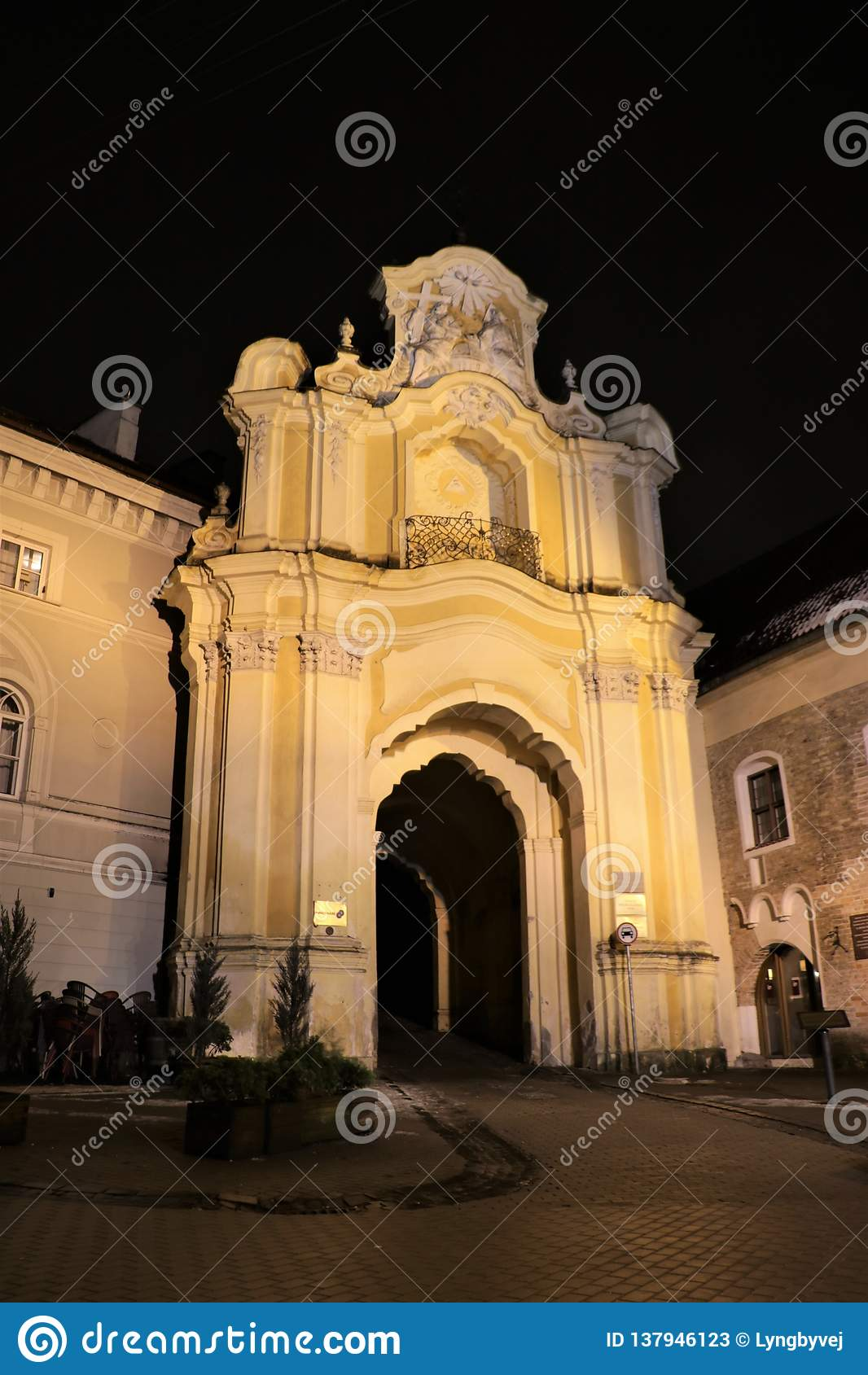 f86e2f857f Historic Basilian Monastery Gate in the Old Town of Vilnius, the capital of  Lithuania. More similar stock images