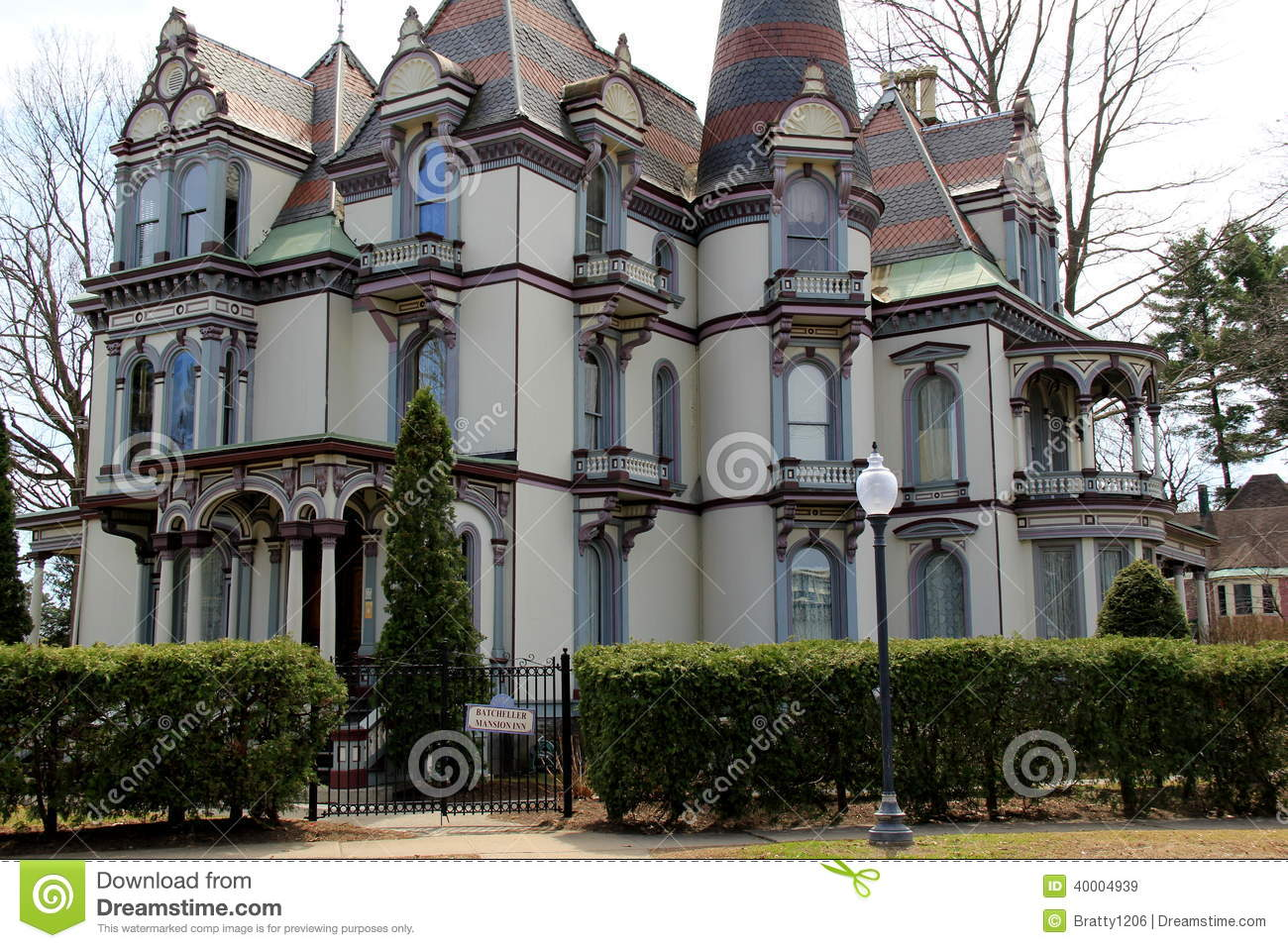 Historic Batcheller Mansion Inn,Saratoga,Ny,2014 Editorial Stock Image ...
