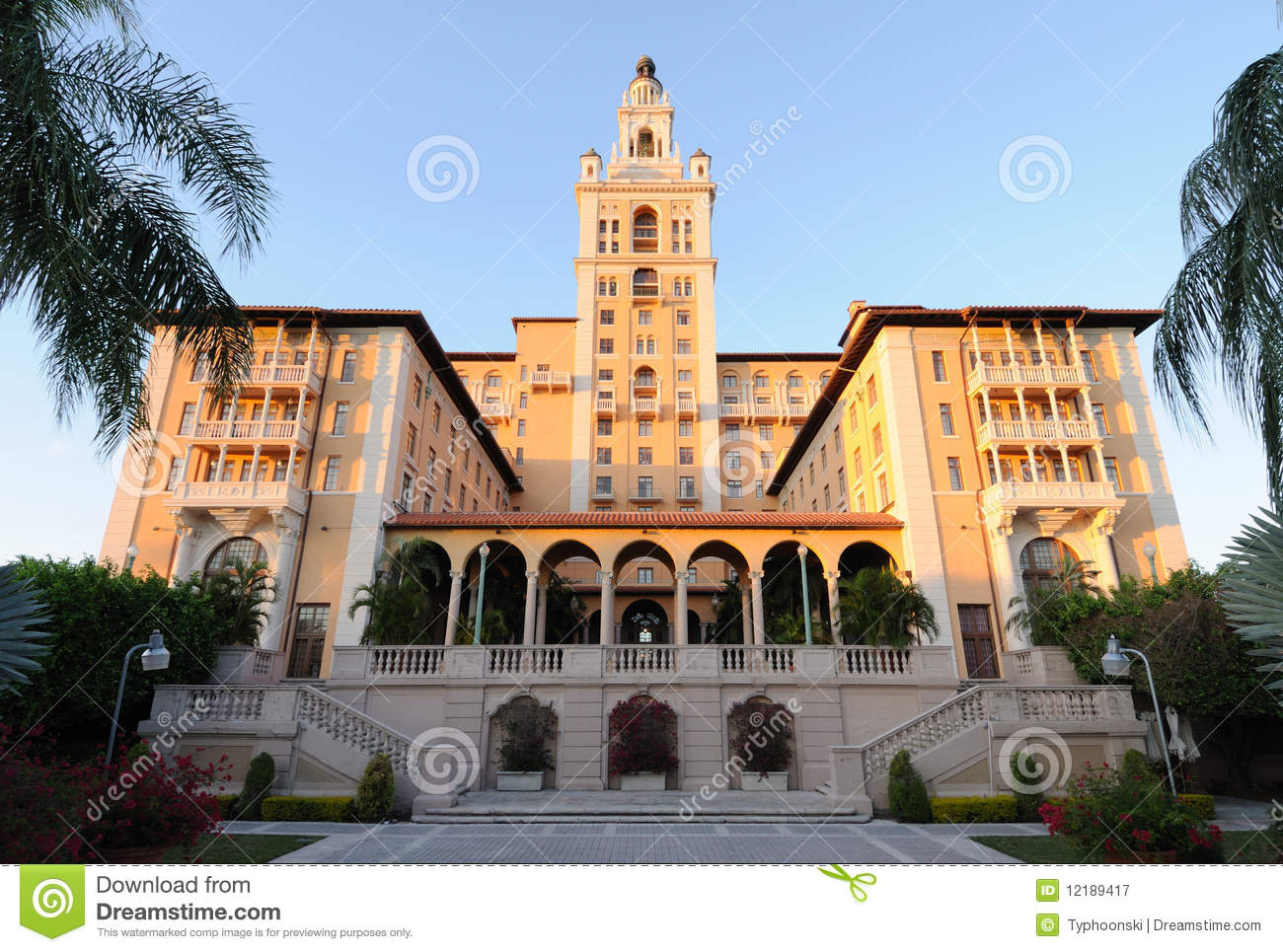 Historic Biltmore Hotel In Miami Royalty Free Stock