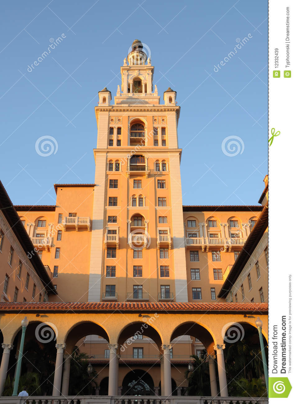 Historic Biltmore Hotel Miami Royalty Free Stock Images