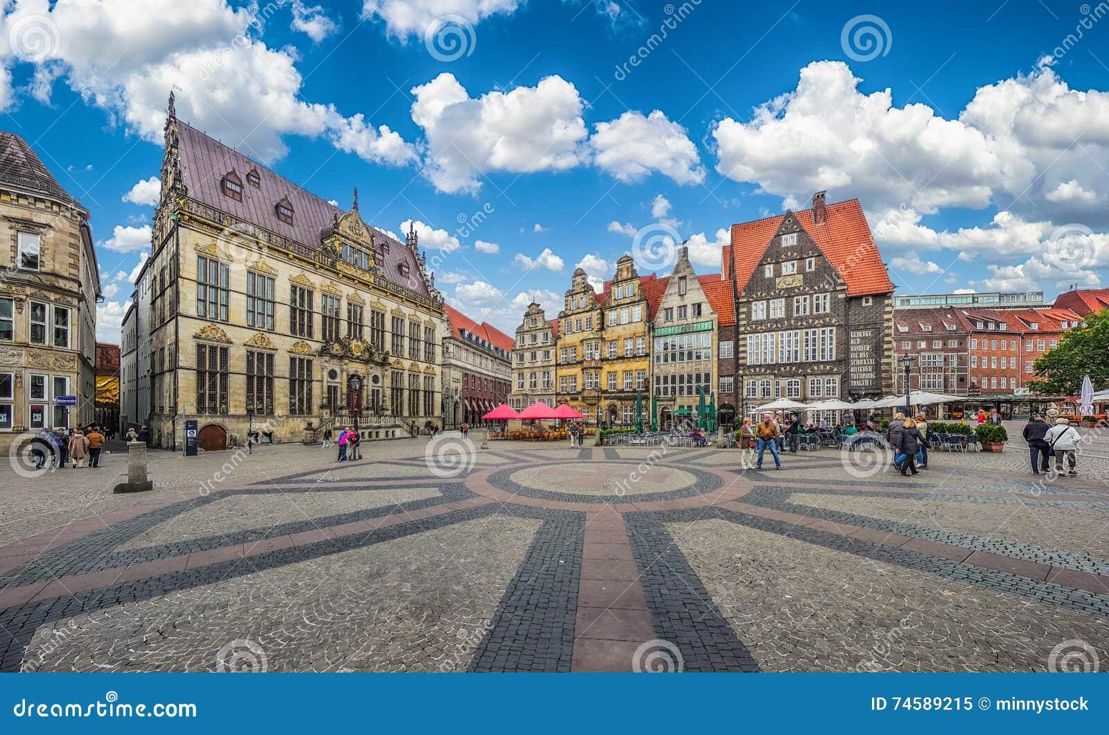 Historic Bremen Market Square in the Hanseatic City Bremen, Germany