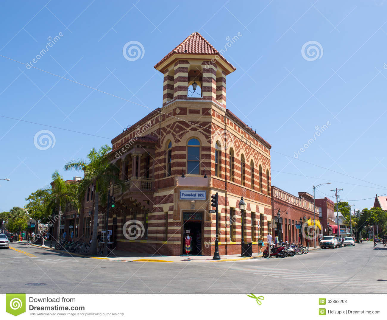 Royalty Free Stock Photos Historic Brick Building Historical Former Bank Street View Key West Florida Image32883208 on Key West House Designs