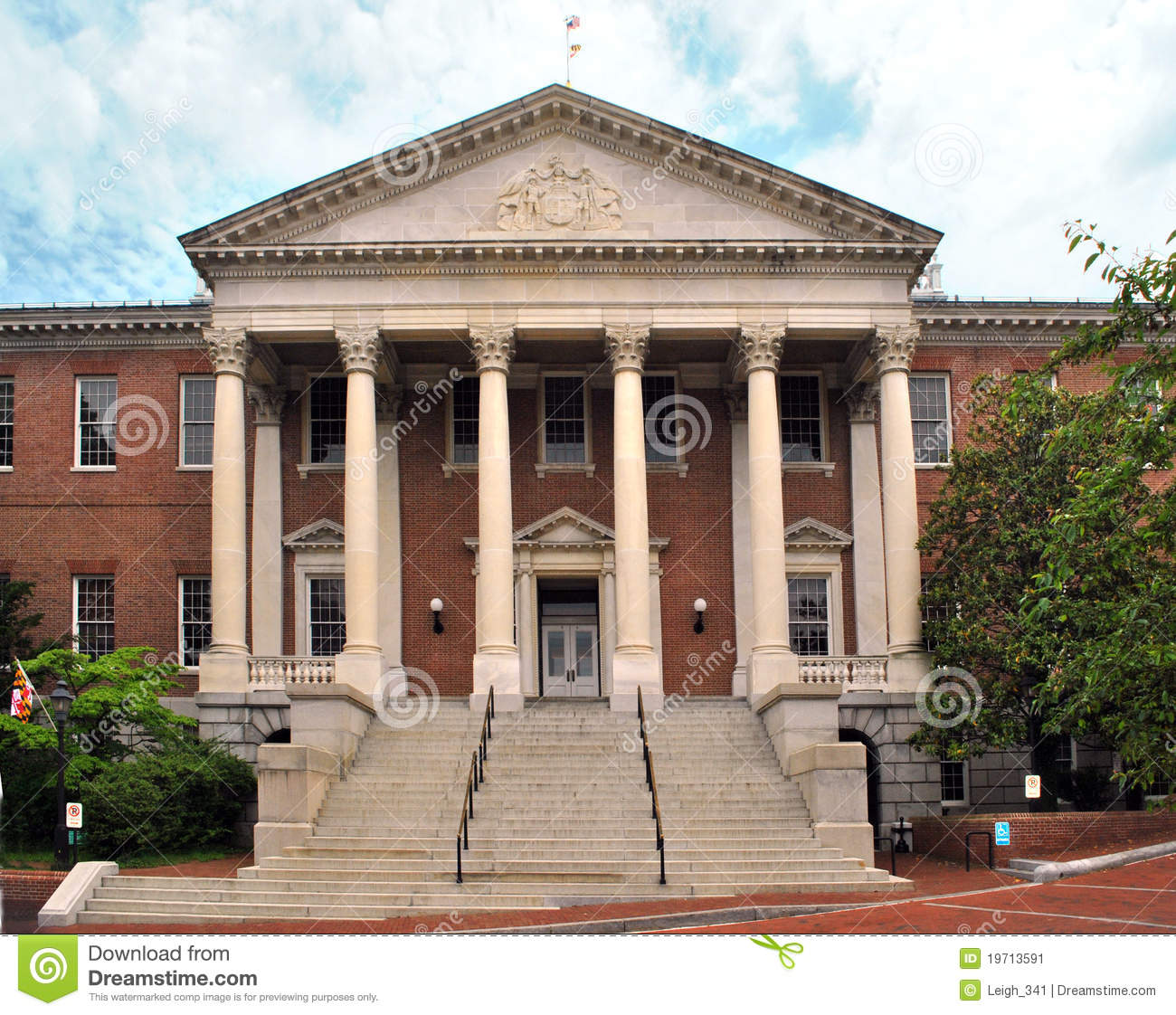 Historic Building In Annapolis Maryland Stock Image