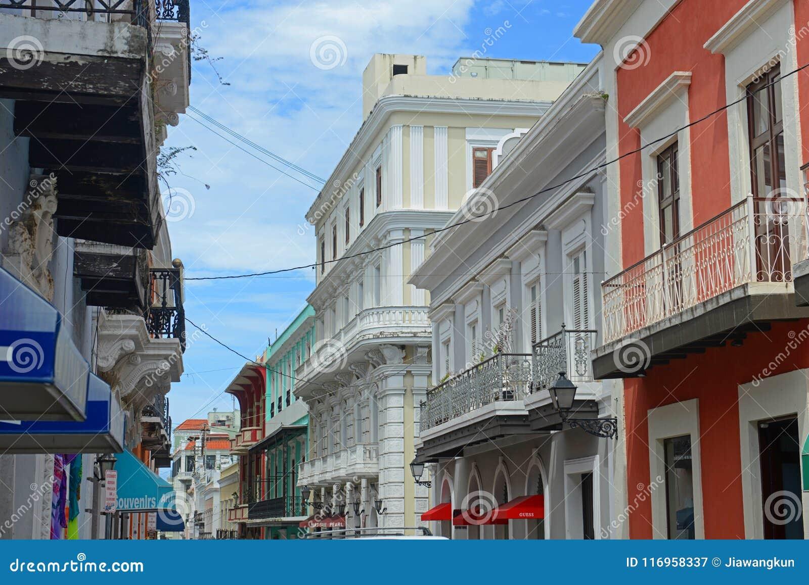 Historic building in Old San Juan, Puerto Rico