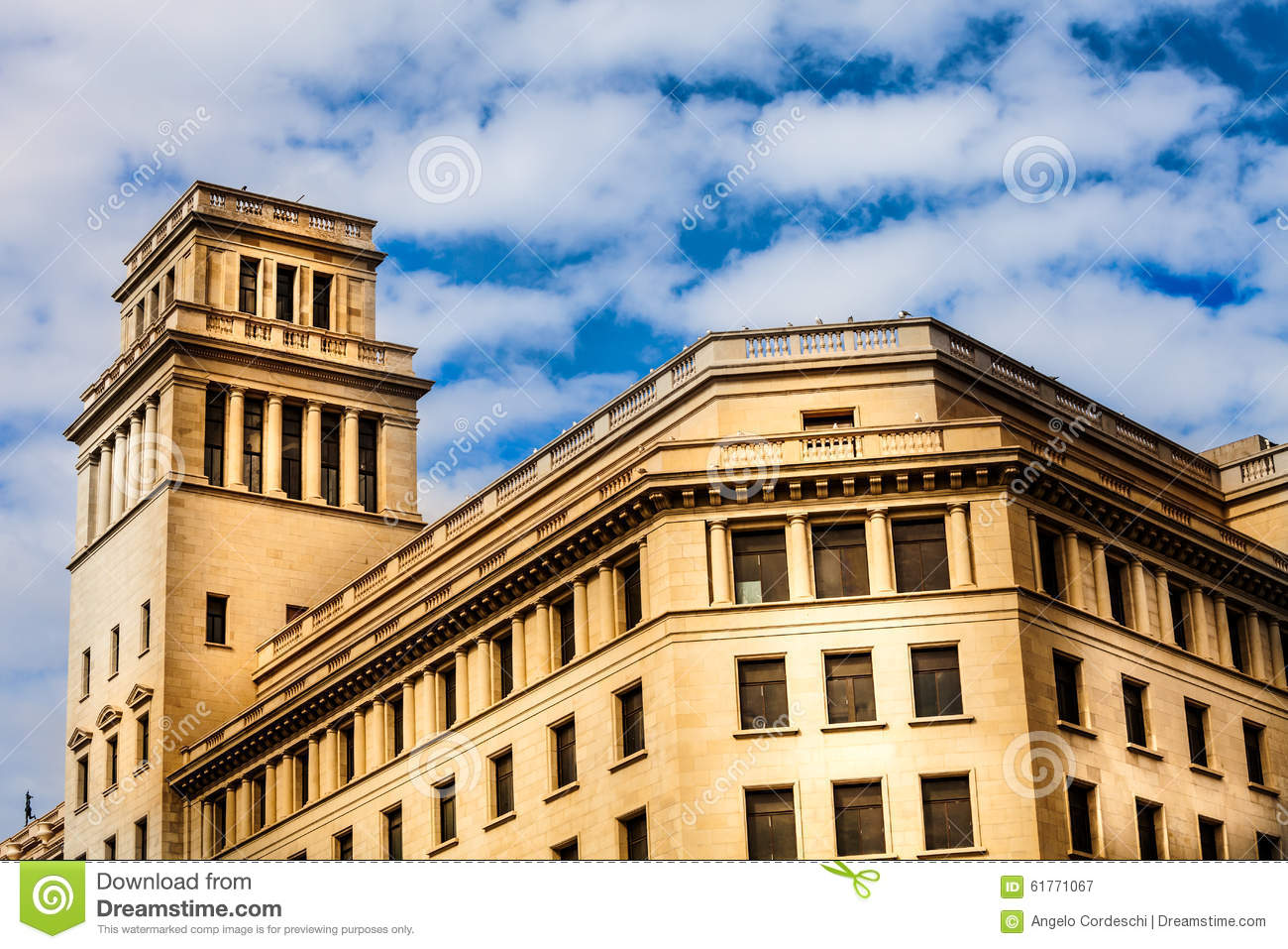 Historic Building With Tower Spanish Stock Image - Image ...