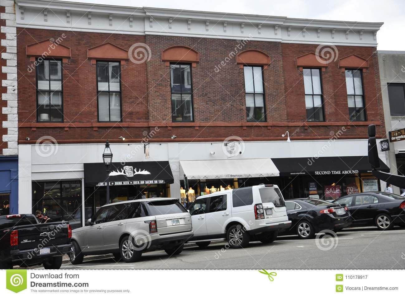 Portsmouth, 30th June: Historic Buildings from Downtown Portsmouth in New Hampshire of USA