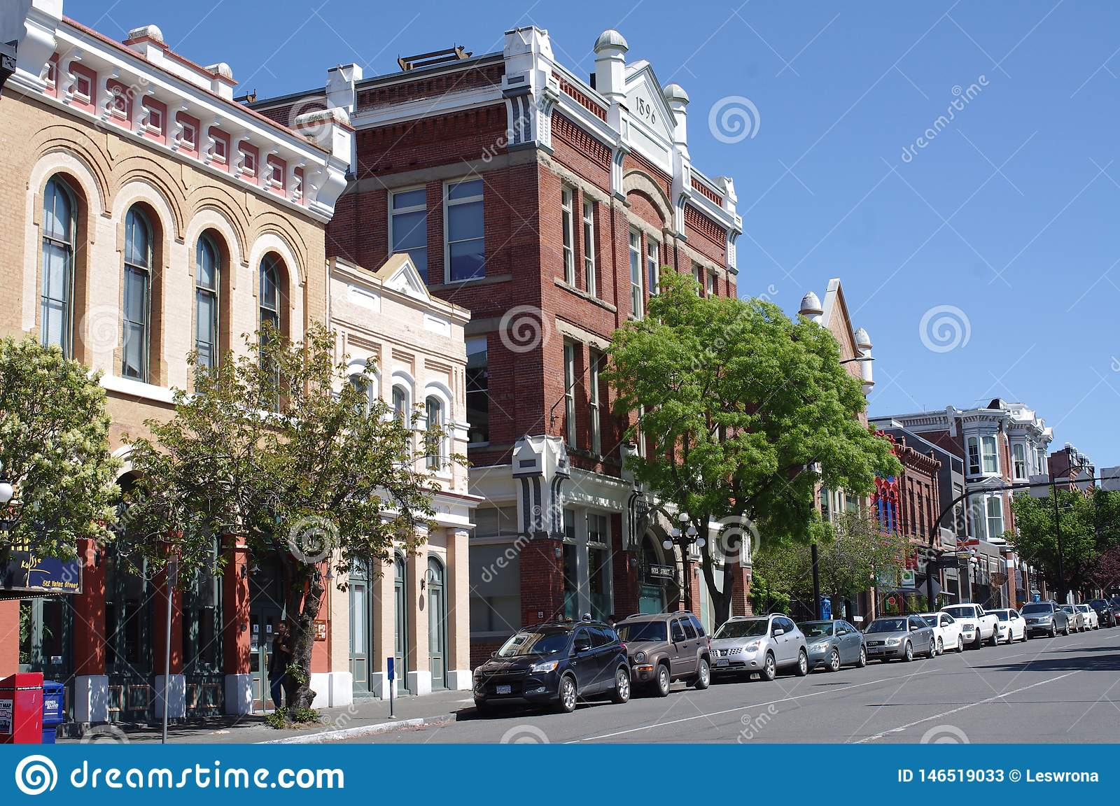 Historic buildings in downtown Victoria, Canada