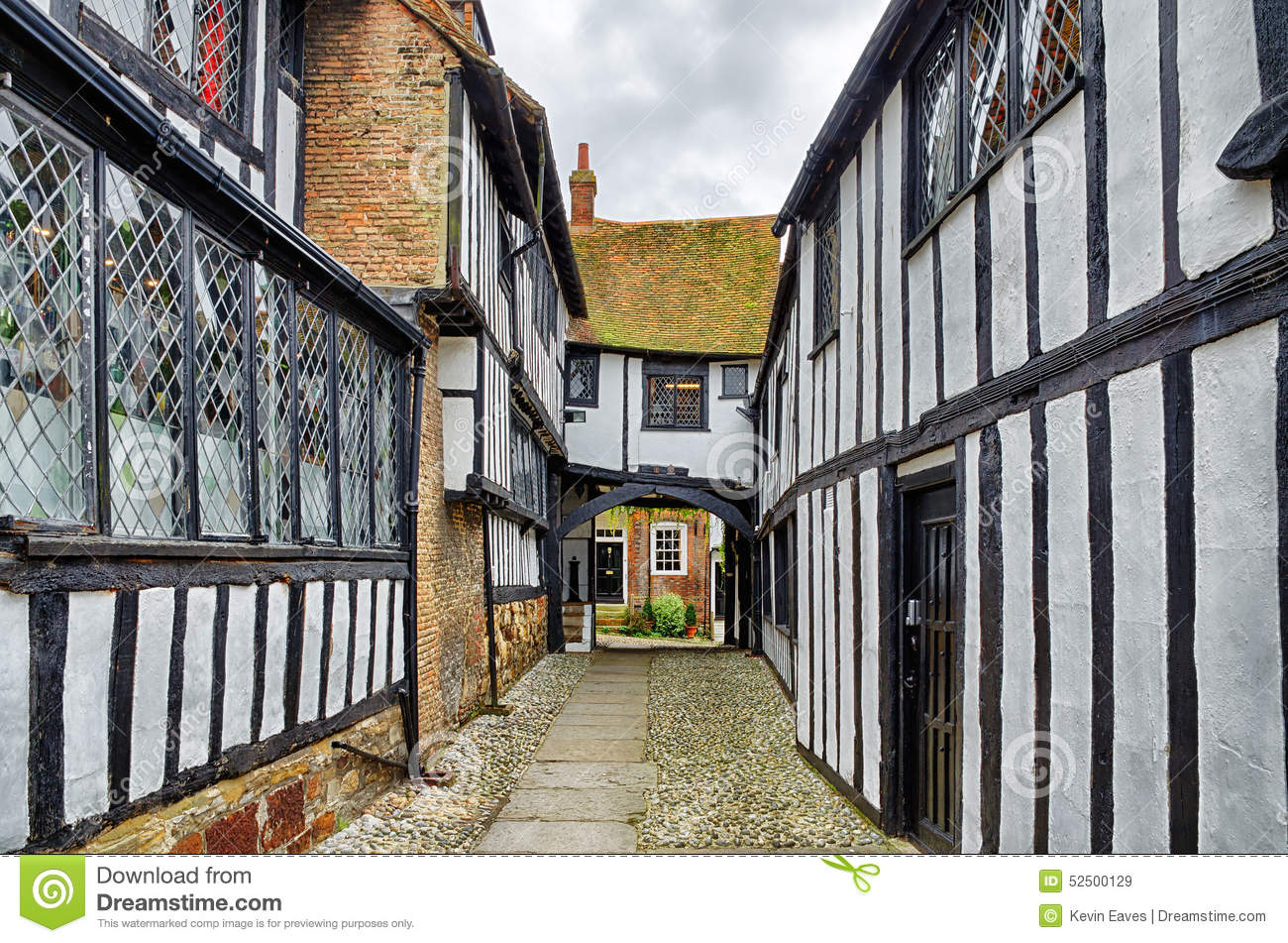 Historic Tudor House Plans Historic Buildings In Rye East Sussex England Stock