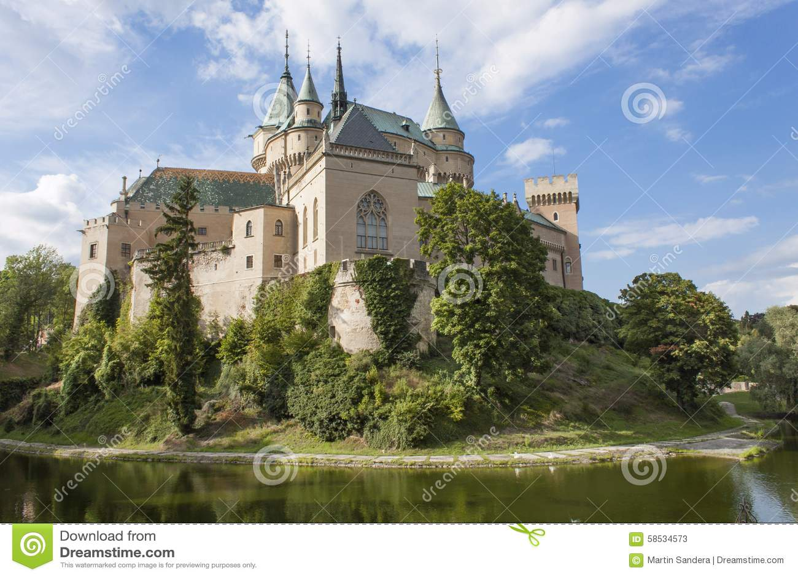 Historic castle Bojnice in the Slovak Republic.