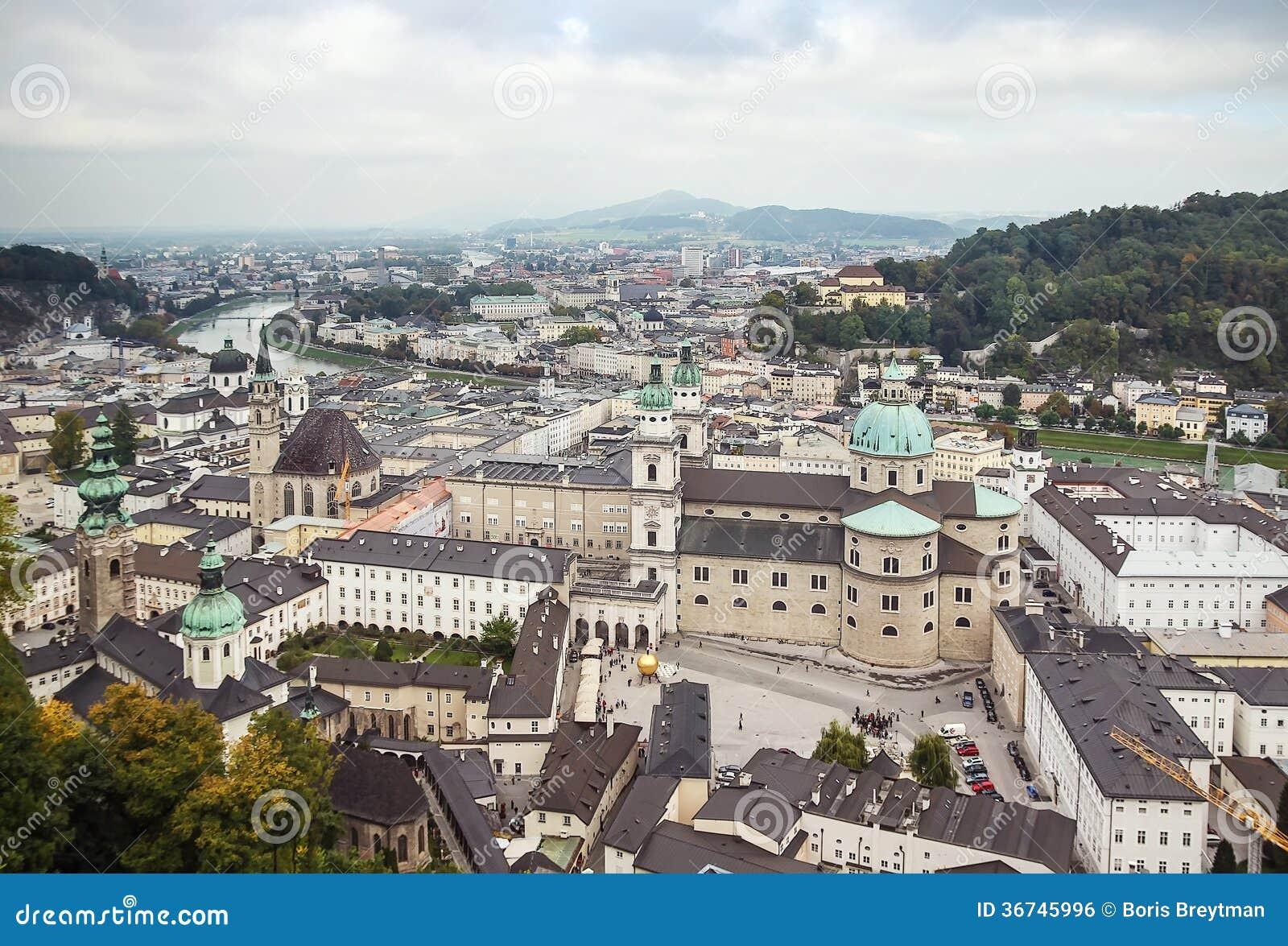 The Historic Center Of Salzburg Austria Stock Photo